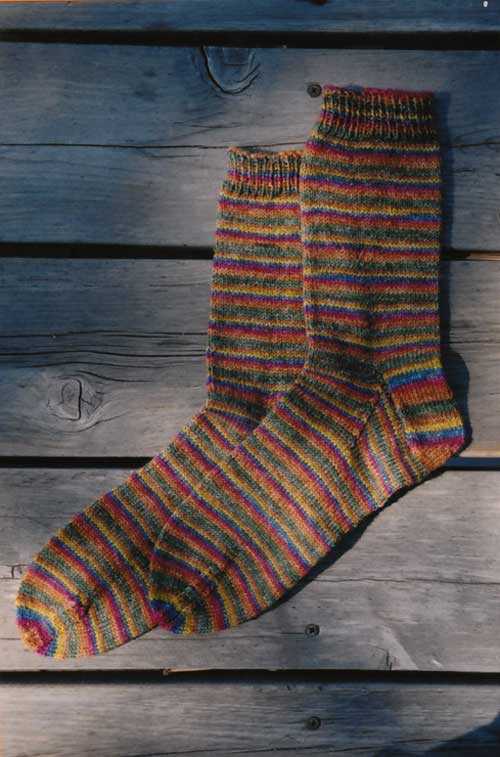 Beginner Lightweight Sock Pattern Knitting Pure And Simple